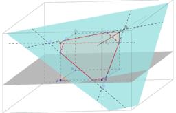 Drawing a cube's cut