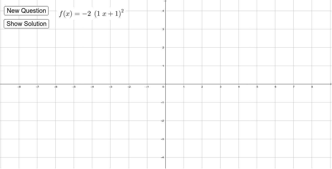 Graphing Transformed Functions - Basic Practice Press Enter to start activity