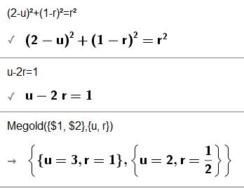 Felírok egy paraméteres egyenletrendszert. és megoldom: