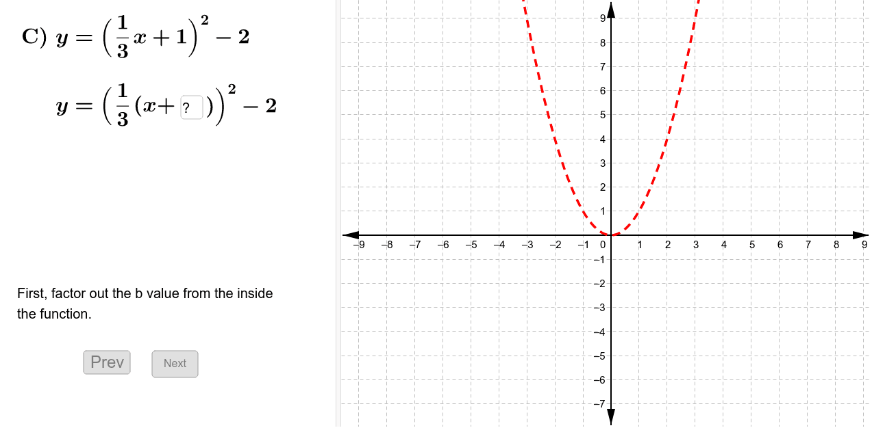 Sketch a graph of the function. Press Enter to start activity