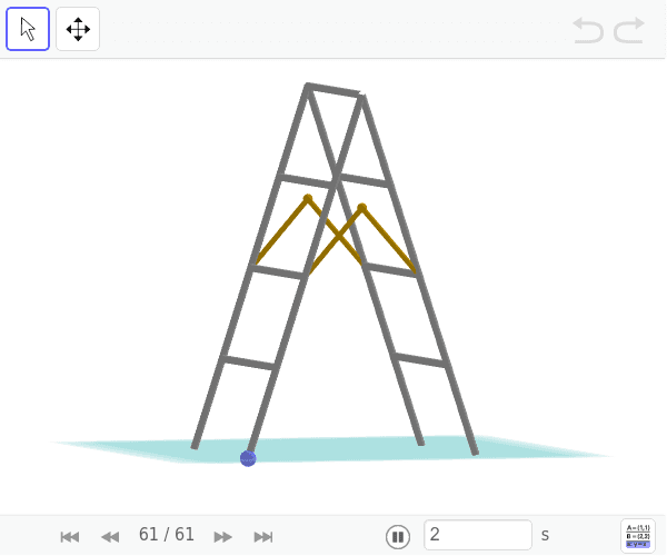 Move the blue point and observe the stairway's movement. Press Enter to start activity