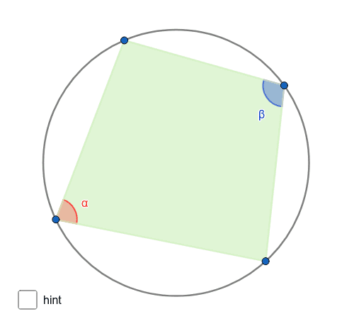 Move the blue points. What about the sum of the highlighted angles? Press Enter to start activity