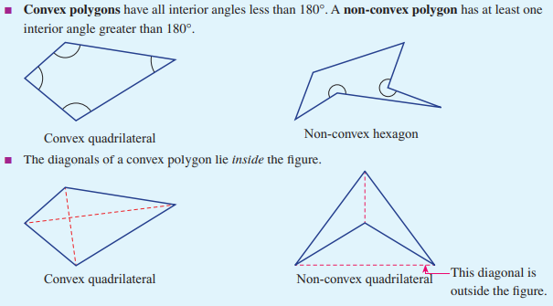 [size=150]There are two main ways to determine if a polygon is convex or non-convex. Either by observing the interior angles or the diagonals. [/size]