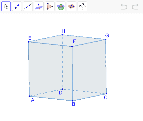 Nacrtajte ravninu određenu točkama ACH. Pritisnite Enter za pokretanje.