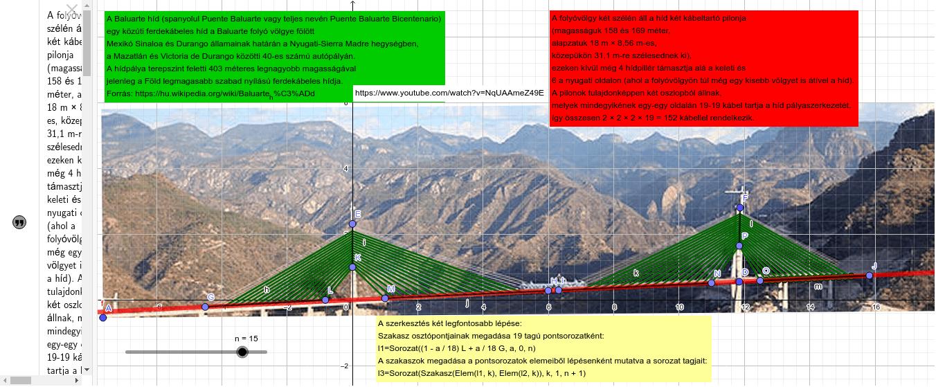 Pont-sorozat, szakasz-sorozat, két pont konvex lineáris kombinációja Press Enter to start activity