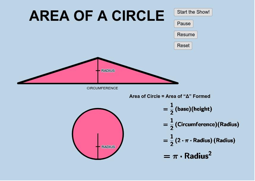 Area_Circle Press Enter to start activity
