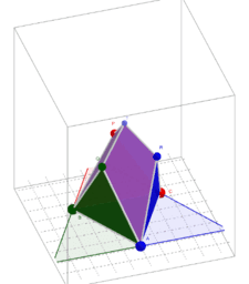 """CHESTAHEDRON (3D solid: 7-faced, equal-area, """"heptahedron"""")"""