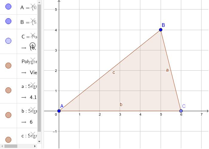 Fläche(ninhalt) Dreieck Drücke die Eingabetaste um die Aktivität zu starten