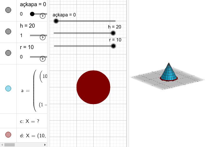 M.8.3.4.6. Dik koniyi tanır, temel elemanlarını belirler, inşa eder ve açınımını çizer. Etkinliği başlatmak için Enter'a basın
