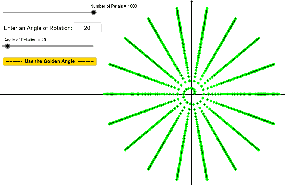 Use the slider, or the text box to change the angle of rotation. Press Enter to start activity