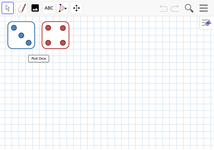 Two Dice Press Enter to start activity