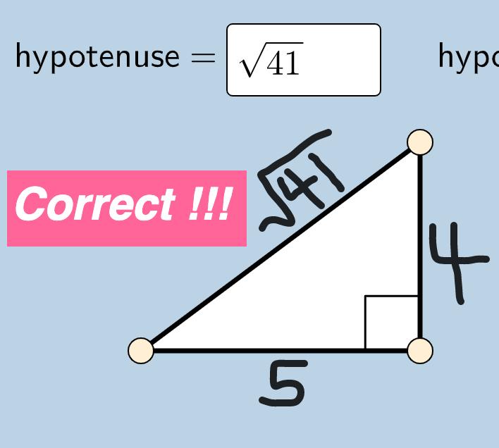 Quiz: Pythagorean Theorem (1)