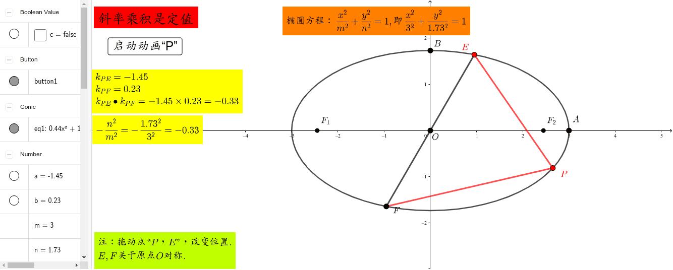 斜率乘积为定值 按 Enter 开始活动