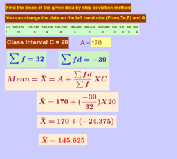Mean by Step Deviation method
