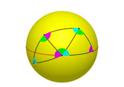 Angle Sum of Triangle on a Sphere