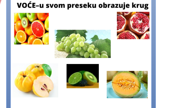 Voće koje u svom preseku ima krug