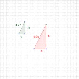 Sidelængder i ligedannede trekanter