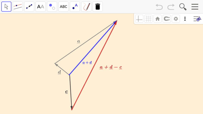 PRACTICE 2.  Addition and subtracion of more vectors  Press Enter to start activity