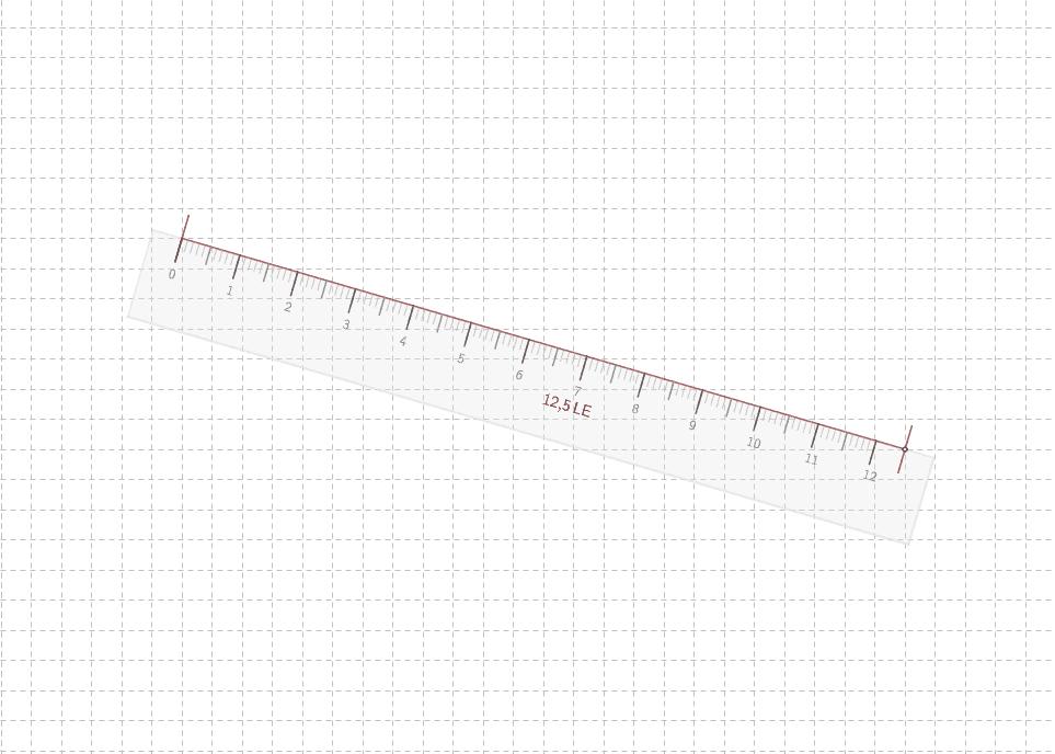 Skala mit Maß ist durch Klick auf den Dreh- und Längenpunkt ein- und ausblendbar! Drücke die Eingabetaste um die Aktivität zu starten