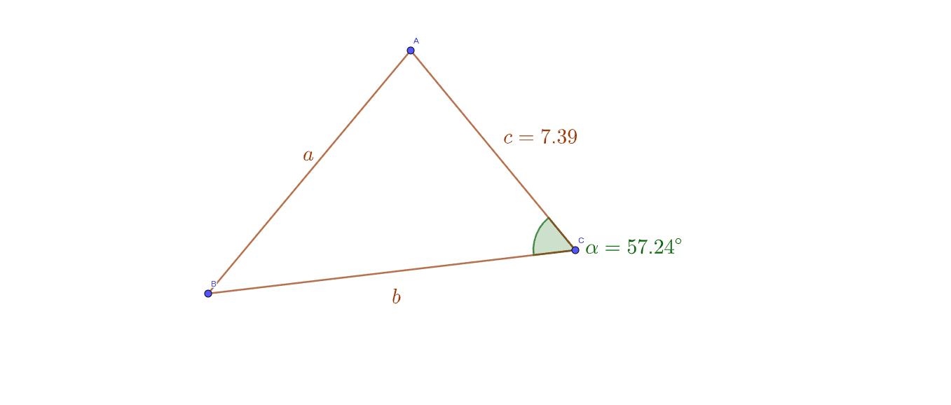 il lato BC è 3/2 del segmento x. Cacolare: x, BC, AB, ecc.  Premi Invio per avviare l'attività