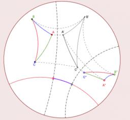 A dynamic visualization of the hyperbolic geometry