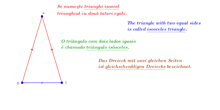 The isosceles triangle