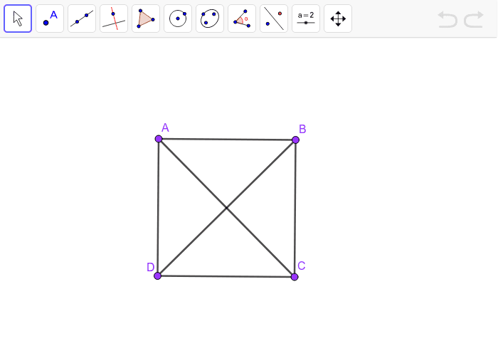 Square with diagonals Press Enter to start activity