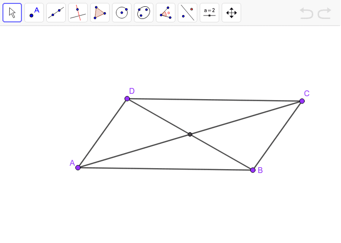 Parallelogram with diagonals Press Enter to start activity