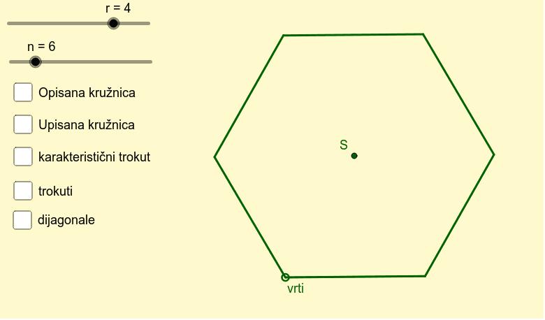 Mnogokutu opisana i upisana kružnica Pritisnite Enter kako bi pokrenuli aktivnost