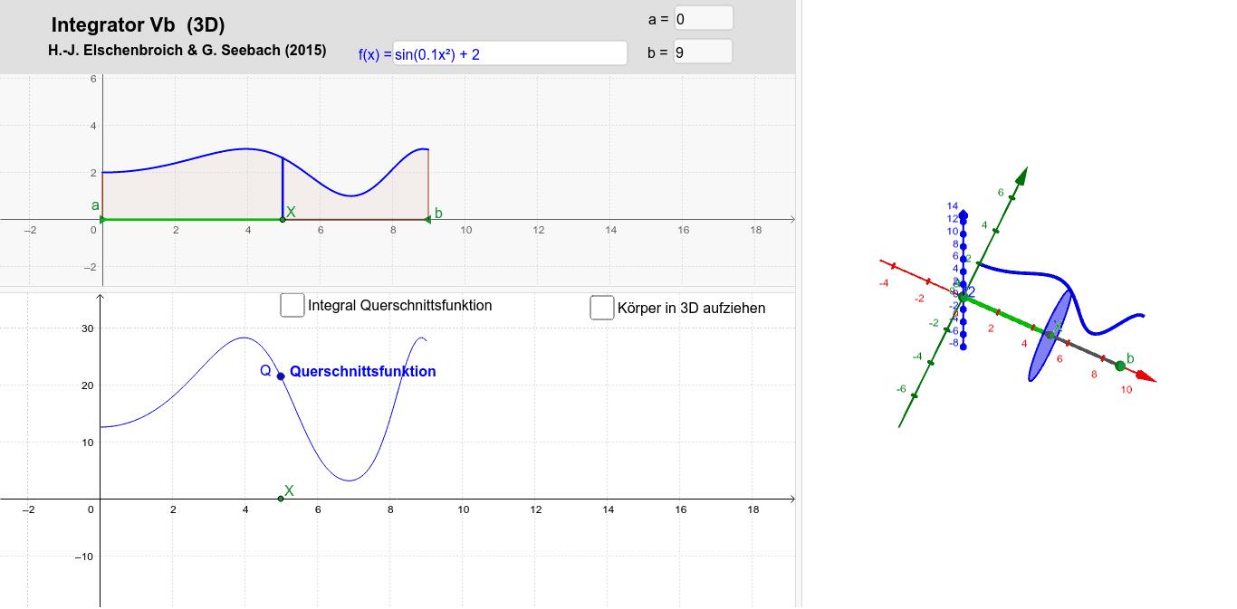 Rotationsvolumen aus Querschnittsflächen Drücke die Eingabetaste um die Aktivität zu starten