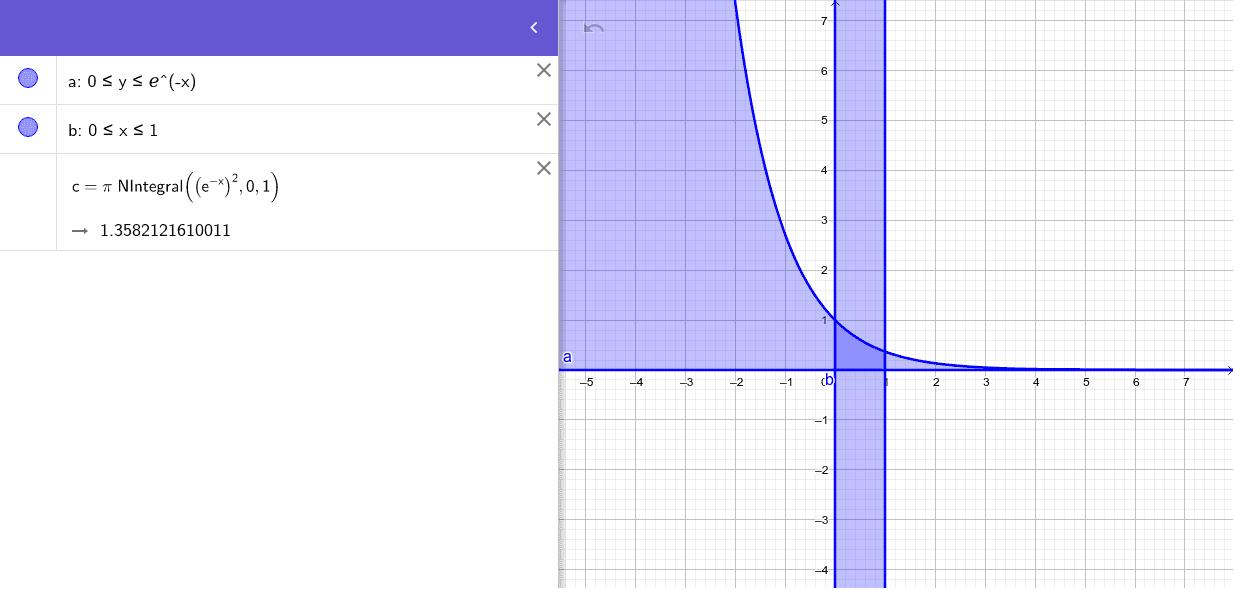 Die dunkle Fläche soll um die x-Achse rotieren. Drücke die Eingabetaste um die Aktivität zu starten