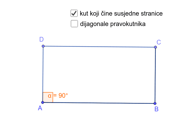 Pravokutnik - duljina dijagonala Pritisnite Enter kako bi pokrenuli aktivnost
