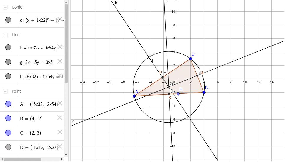 Umkreismittelpunkt eines Dreiecks Drücke die Eingabetaste um die Aktivität zu starten