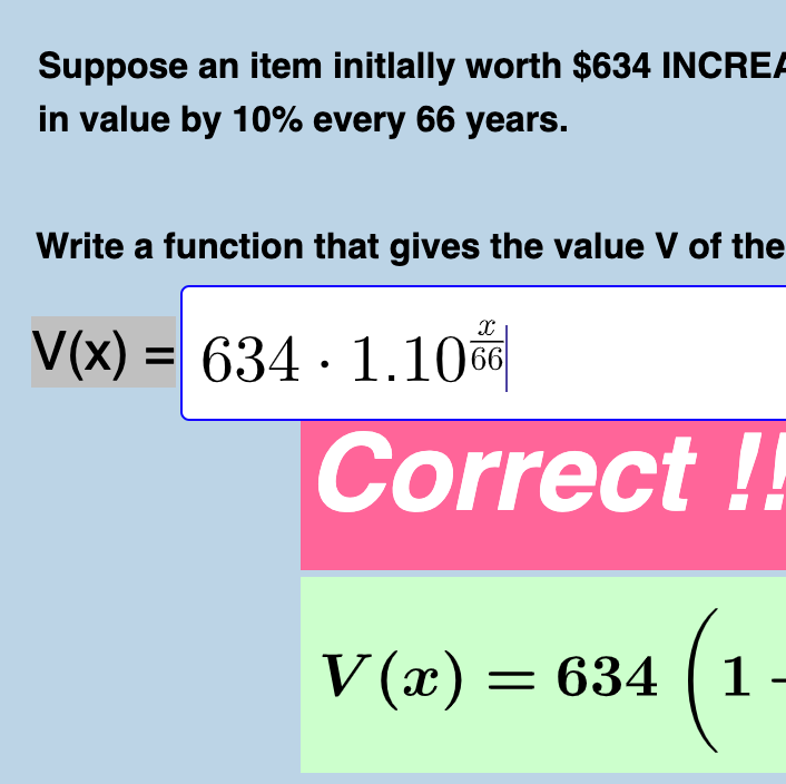Quiz: Writing Exponential Growth & Decay Functions