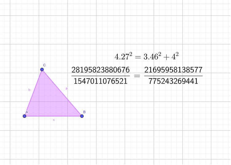 Mueve los vértices del triángulo y trata de que se cumpla la igualdad de la cual habla Homero: Presiona Intro para comenzar la actividad