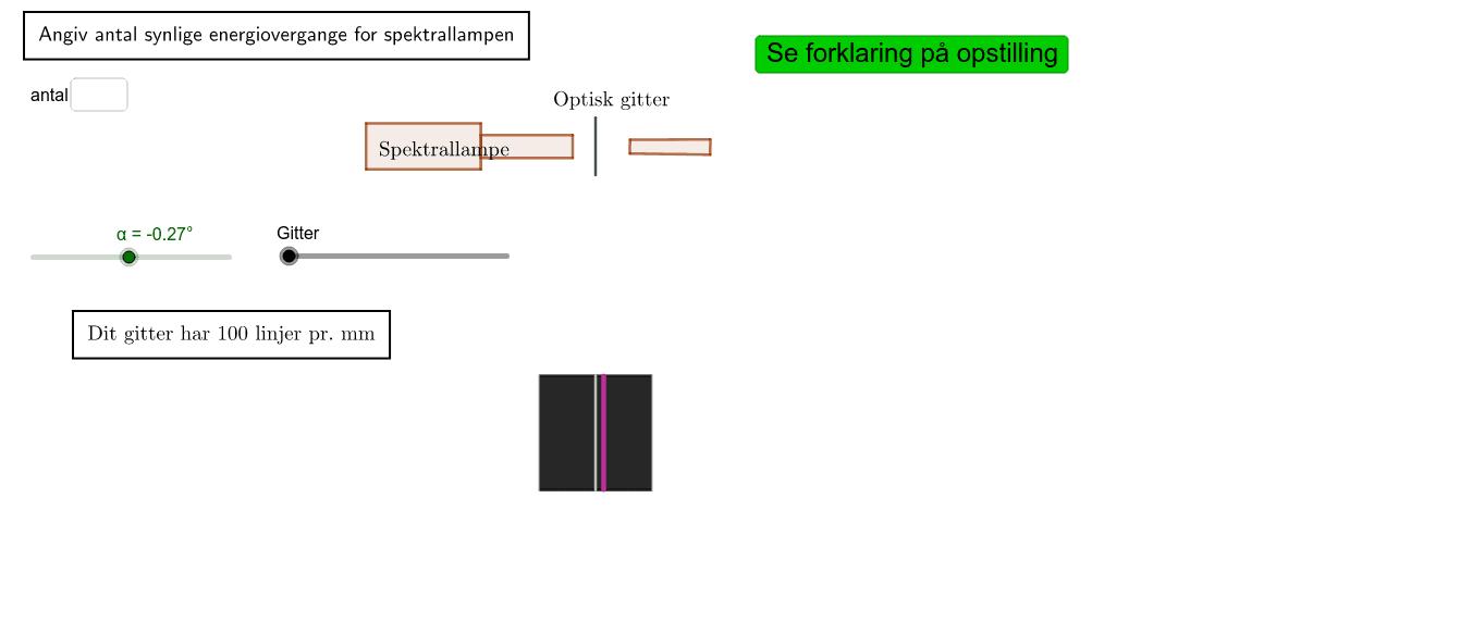 Spektralanalyse Tryk Enter for at starte aktiviteten