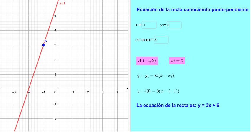 Resuelve el ejercicio anterior con la ayuda de Geogebra Presiona Intro para comenzar la actividad