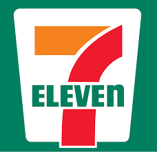 the white outline on a 7 eleven sign is an isosceles trapezoid because each pair of base angles as well as its diagonals are congruent.