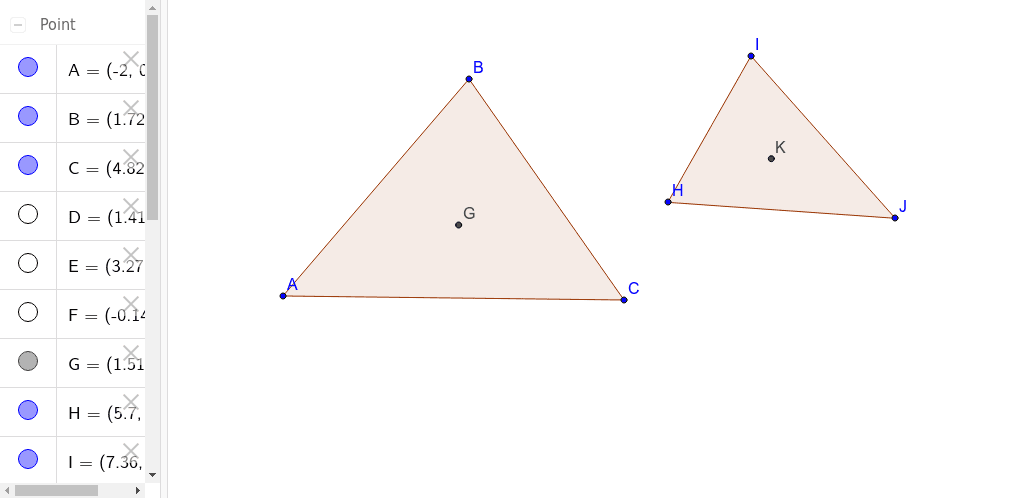 3.1.4 - Tool for constructing a triangle and its centroid Press Enter to start activity