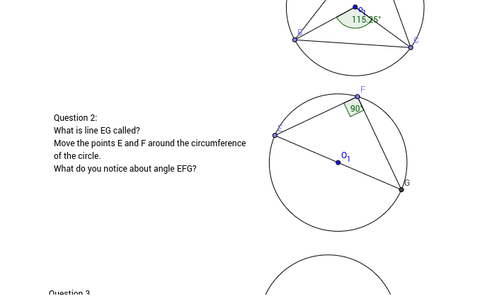 Discovering Circle Theorems Press Enter to start activity
