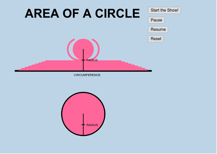 Area of Circle Press Enter to start activity