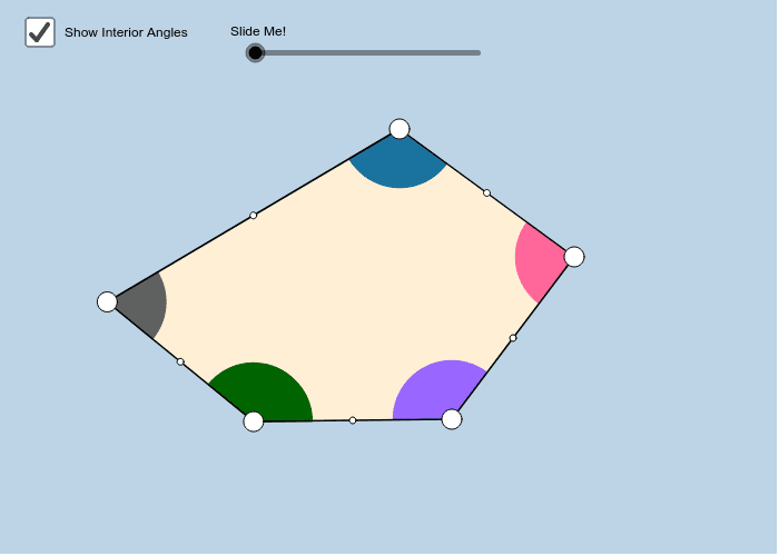 Sum of interior angles of Pentagons Press Enter to start activity