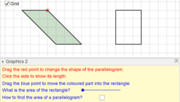 Area of Parallelograms