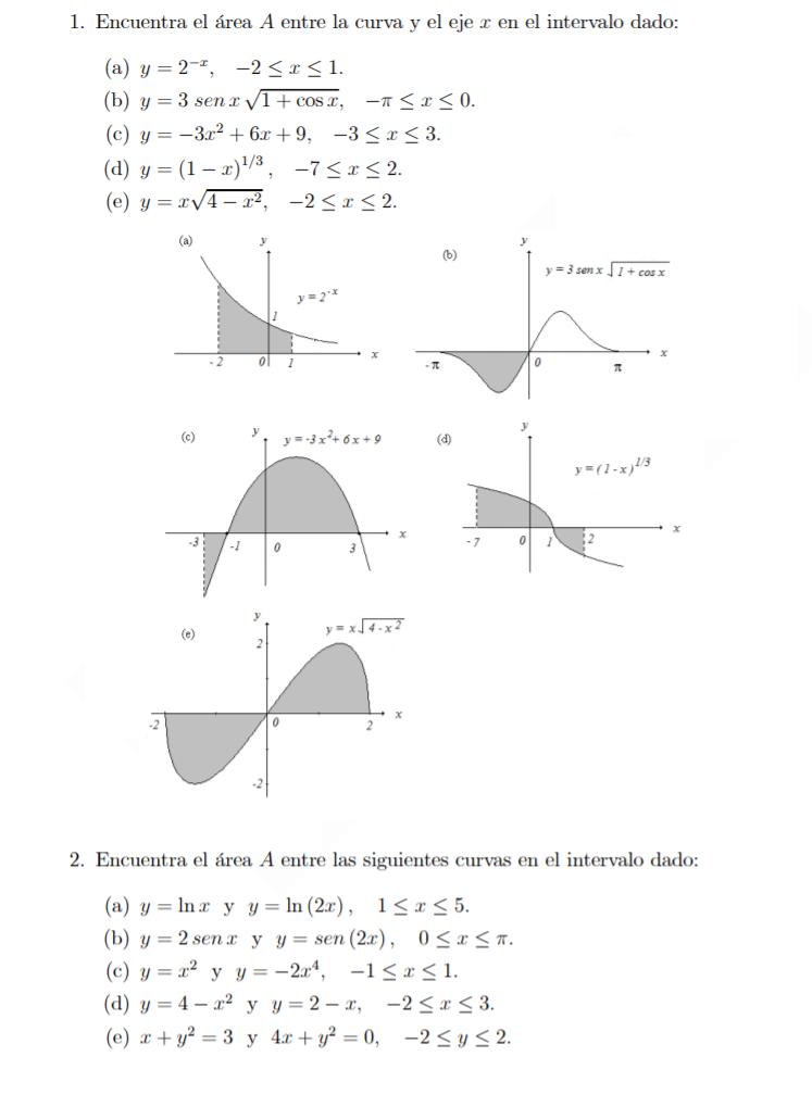 Realiza los ejercicios propuestos utilizando sumas de Riemann. Puedes usar como recurso de apoyo la [url=https://calculadorasonline.com/calculadora-de-suma-de-riemann-online-sumas-de-riemann/]calculadora de suma de Riemann online[/url].