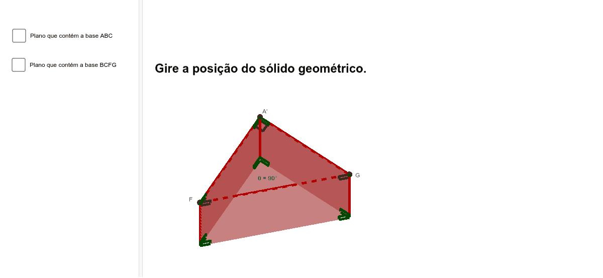 Construção para visualizar a resolução: Qual é a forma geométrica da superfície cujas arestas estão representadas na Figura 2? Press Enter to start activity