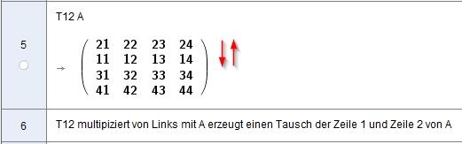 [size=100]Anwenden der Tauschmatrix T12 zum Zeilentausch[/size]