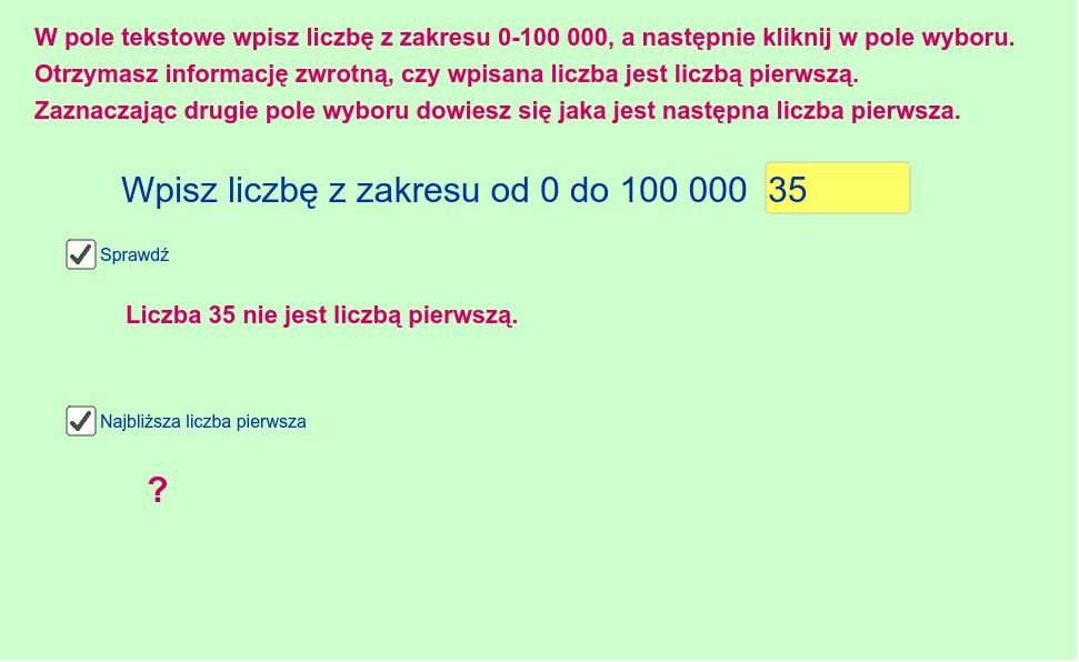 Liczby pierwsze