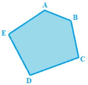 Disegniamo unpoligono i cui vertici sianoA, B, C, D, E. Ricordiamo che unPoligonoè laparte di piano limitata da una linea spezzata semplice e chiusa.