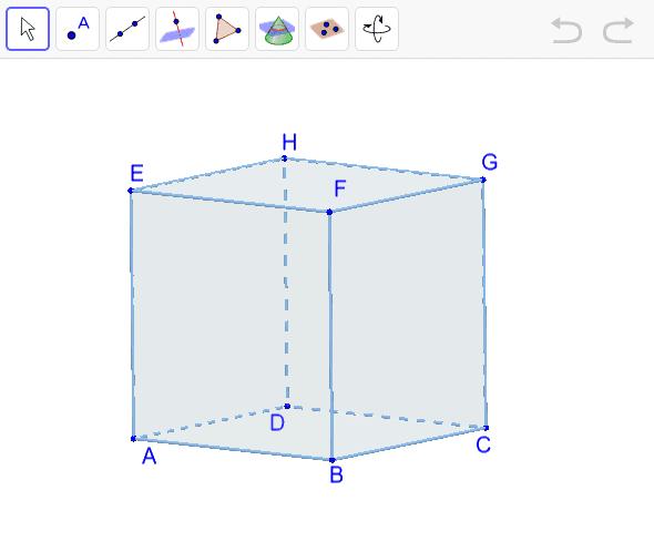 Nacrtajte ravninu određenu točkama ABG. Pritisnite Enter za pokretanje.