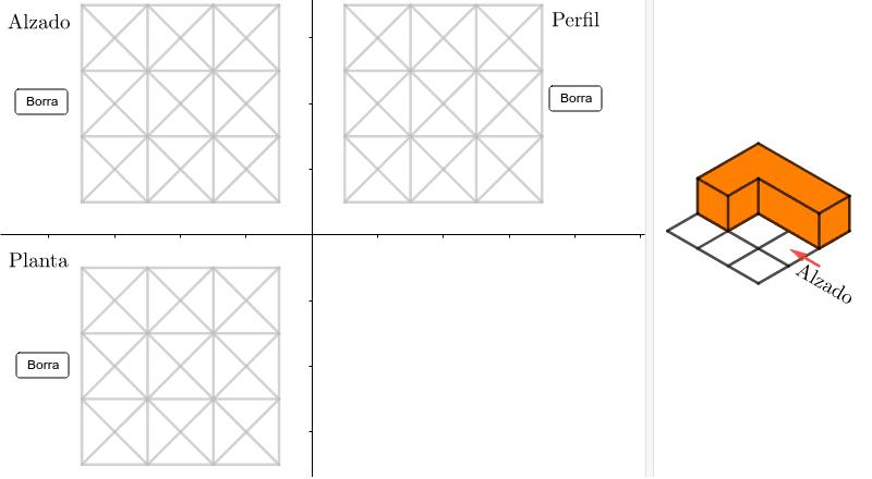 Pulsar sobre los segmentos hasta que el trazado coincida con las vistas de la figura de la derecha Presiona Intro para comenzar la actividad